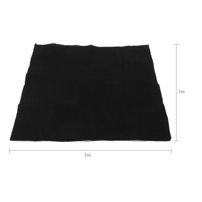 Blacl Filter Fabric 3mm Home Purifier Fabric Fashion Activated Carbon Air Conditioner Purify Filters