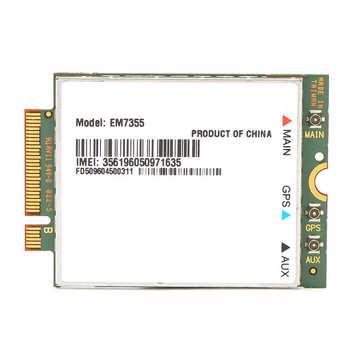 Bezprzewodowa karta sieciowa moduł 4G LTE WiFi PCIe M 2 NGFF EM7355 do laptopa stacjonarnego wysokiej jakości tanie i dobre opinie VBESTLIFE Other Wewnętrzny wireless ExpressCard Wireless Network Card
