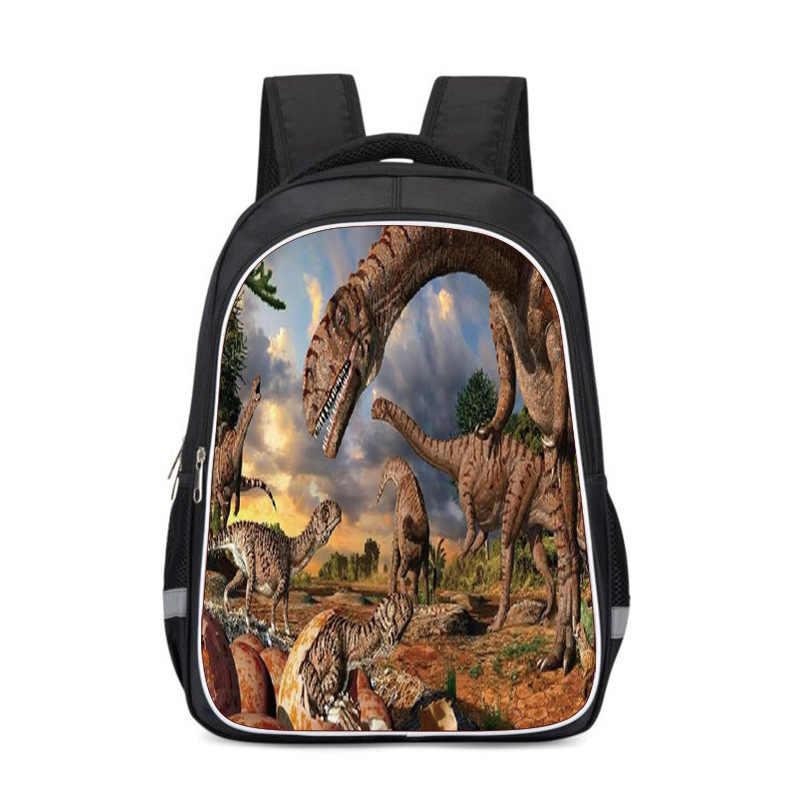 Vários padrão monster World Jurassic Park Dinossauro Mochila mochila Schoolbag Brinquedos Presente Para As Crianças