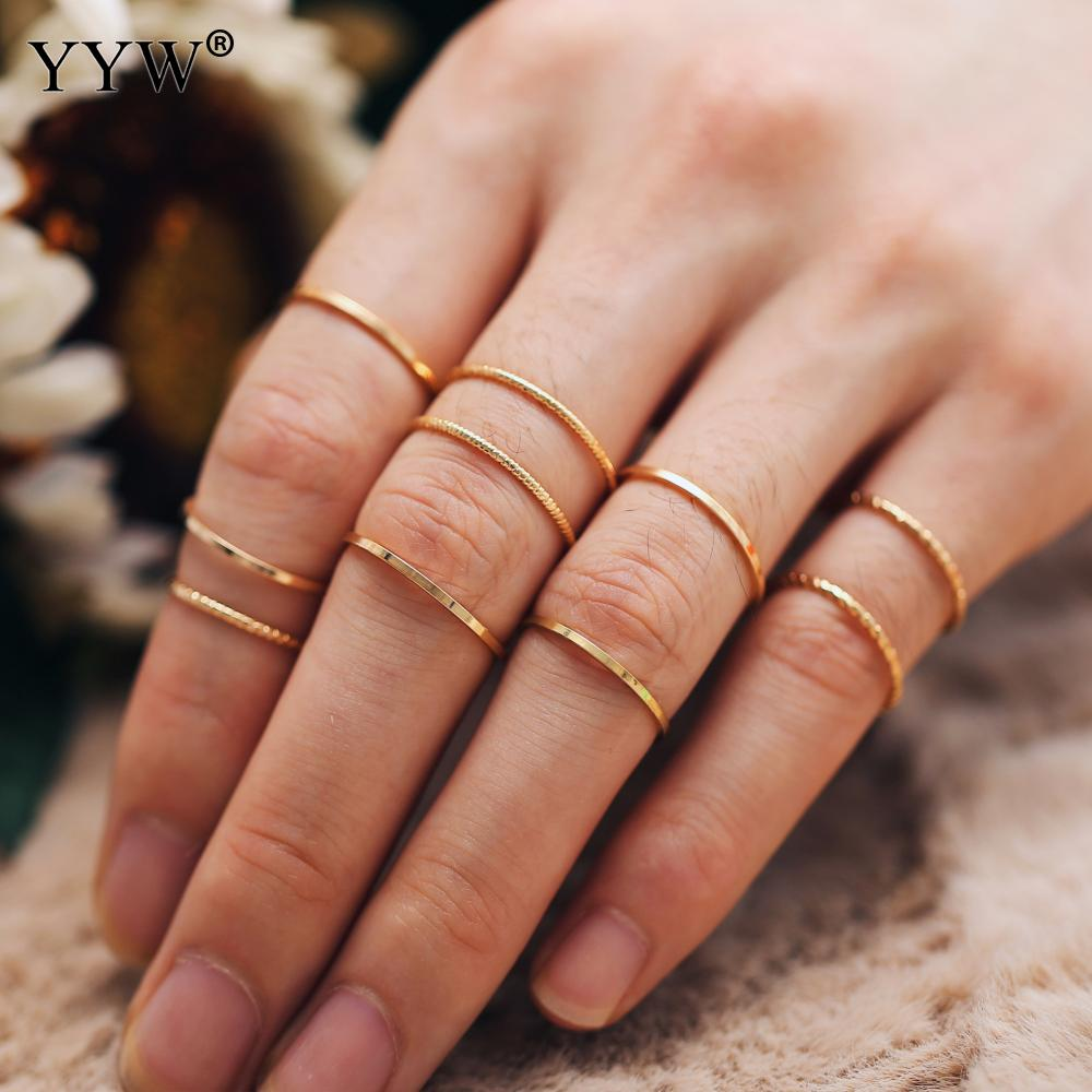 10 Pcs/Set Ring Set Cute Finger Ring Plated  Fashion Jewelry For Woman 2019 Knuckle Female Fashion Jewelry Wedding Gifts