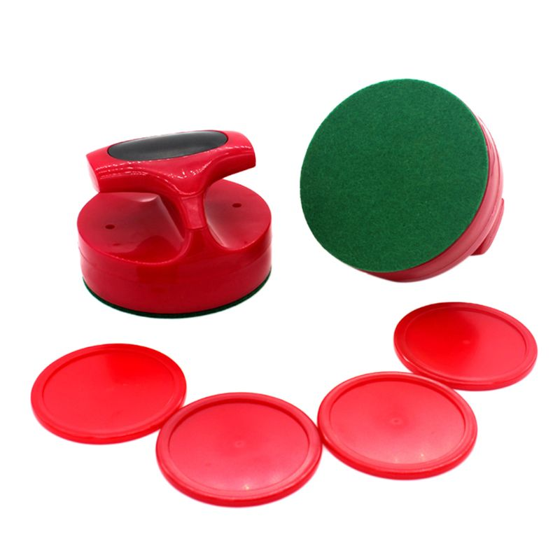 Air Hockey Pushers and Hockey Pucks Great Goal Handles Paddles Replacement Accessories for Game Tables (2 Strike 4 Puck) W0YB