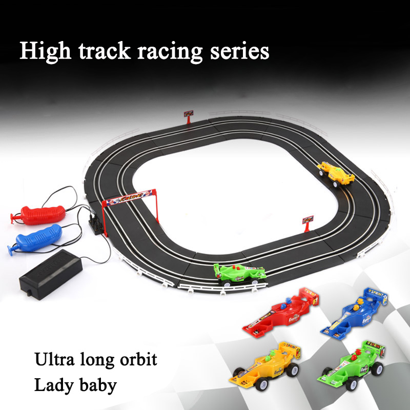 Electric Autorama Racing Track Railway Toys Suit High-speed Circuit Voiture Double Rail Car Slot Hand-cranked Track Toy For Boy