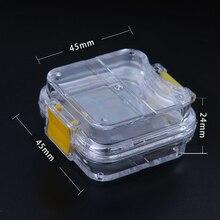 5 шт Стоматологическая лаборатория Маленькая прозрачная коробка для хранения короны с прозрачной мембраной для упаковки для стоматологической лаборатории, стоматологов
