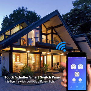Image 5 - Wifi Smart Light Switch Touch Glass Panel  US Rectangle Wireless Electrical App Remote Voice Control work for Alexa Google Home