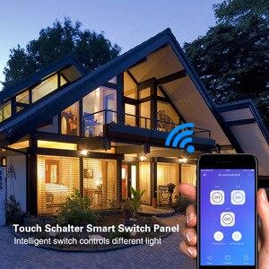 Image 5 - Wifi akıllı işık anahtarı dokunmatik cam Panel abd dikdörtgen kablosuz elektrik App uzaktan ses kontrol çalışması Alexa Google ev için