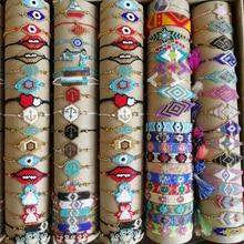 SHINUSBOHO 5 шт./компл. браслет miyumi для мужчин, сексуальный браслет в форме губ для женщин и мужчин, ювелирные изделия, подарок на удачу, регулируем...
