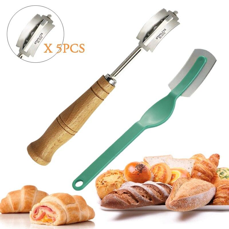 Lame à pain en plastique/en bois outils boulangerie grattoir couteau à pain/trancheuse/Cutter pains de pâte marquant la Lame avec des lames Arc couteau incurvé