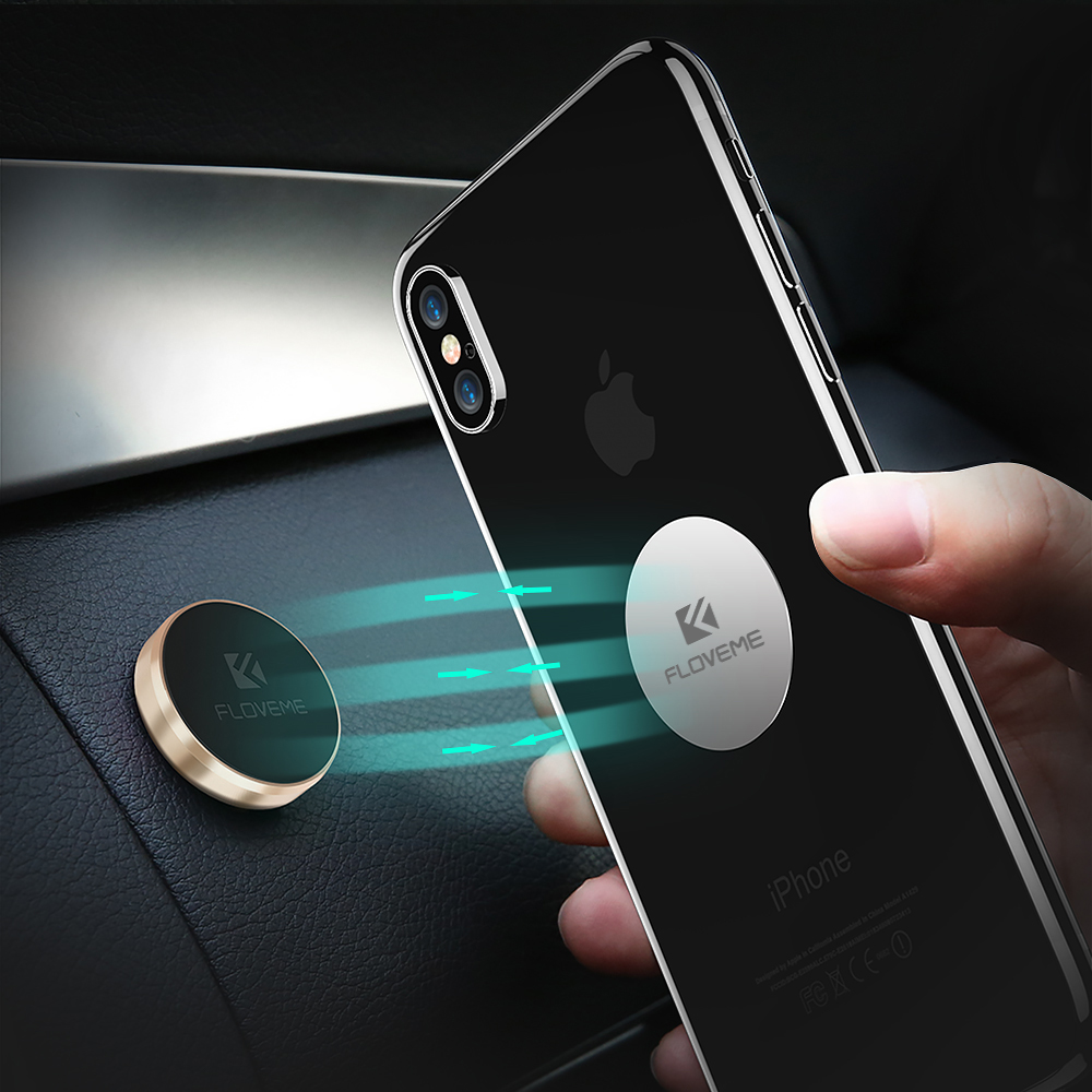 FLOVEME Magnetic Car Phone Holder Stand For IPhone 8 Samsung Xiaomi Magnet Holder For Phone In Car Mobile Phone Car Holder Stand