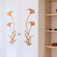 3D DIY Flower Shape Acrylic Wall Sticker Modern Decoration Living Room Removable Mural Wallpaper Art Decals