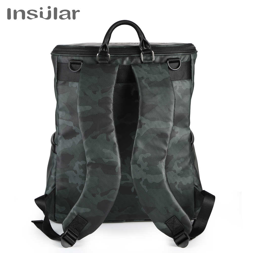 Insular Nappy Backpack Bag Mummy Large Capacity Bag Mom Baby Multi-function Waterproof Outdoor Travel Diaper Bags For Baby Care