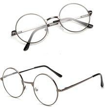 Vintage okrągła metalowa ramka do czytania czyste soczewki do okularów okulary Ultra lekkie żywiczne okulary powiększające do pielęgnacji oczu + 1.00 ~ + 4.0