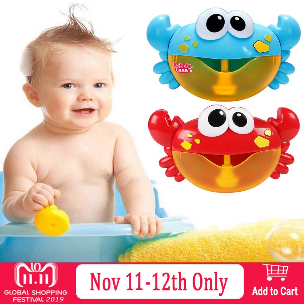 Baby Bath Toys Funny Bubble Crabs Music Automatic Bubble Maker Machine Bubble Maker Toys Bathtub Soap Machine Toys For Children