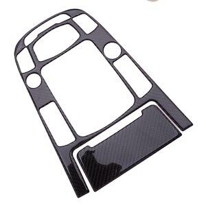 Image 2 - Schwarz Carbon Faser 2 stücke Center Konsole Getriebe Shift Panel Aufkleber Abdeckung Trim Fit für Audi A4L A5 Q5 2009 2012 2013 2014 2015 2016