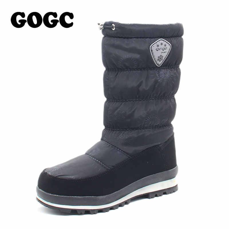 2019 kış kadın çizmeler orta buzağı botlar peluş astarı Botas kadın su geçirmez bayan kar botları kızlar kadın ayakkabı kış botu