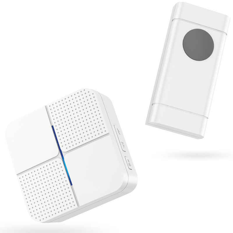 Botique-Wireless Doorbell Waterproof Doorbell Kit Operating at 600 ft with 1 Push Button and 1 Plugin Receiver, 52 Ringtones 4 V image