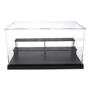 Acrylic Action Figures Model Transparent Display Case Toy DIY Assembling Storage Box Car Ship Collectibles Cabinets Boys Toys