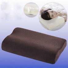 Бархатная Ортопедическая подушка из пены памяти подушка для шеи подушка из волокна медленный отскок мягкая подушка Массажер для здоровья шейки матки