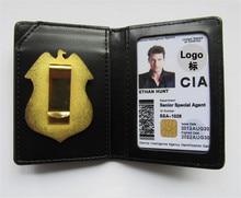 Badges dagents spéciaux de Police CIA des états unis, porte cartes en cuir, porte cartes didentité, de conduite, porte monnaie, Collection Cosplay en cadeau