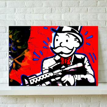 Paintings Wall Art Otto Monopolys Gun Canvas Modular Old Man Red Picture HD Print Posters No Frame For Living Room Home Decor image