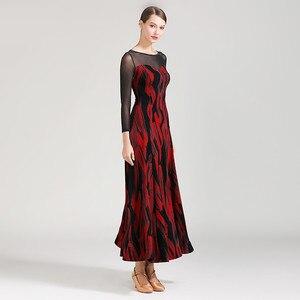 Image 3 - Latin ballroom jurk voor stijldansen vrouwen dans jurk flamenco ballroom praktijk slijtage foxtrot jurk moderne dans kostuums