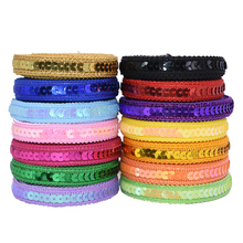 5Meter 12mm Sequin Ribbon Lace Trimming Fabric Clother For Dress Clothes Headdress Bridal DIY Craft Sewing Accessories