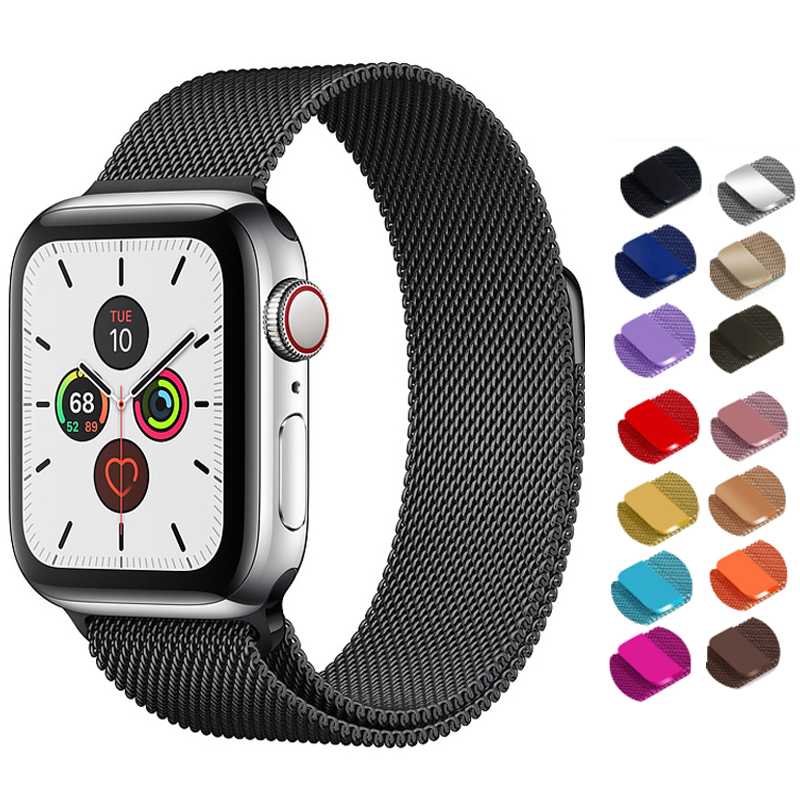 Strap For Apple Watch Band 5 Apple Watch 5 4 3 Band Milanese Loop Stainless Steel Watchband 44mm 40mm Iwatch 42mm 38mm Bracelet