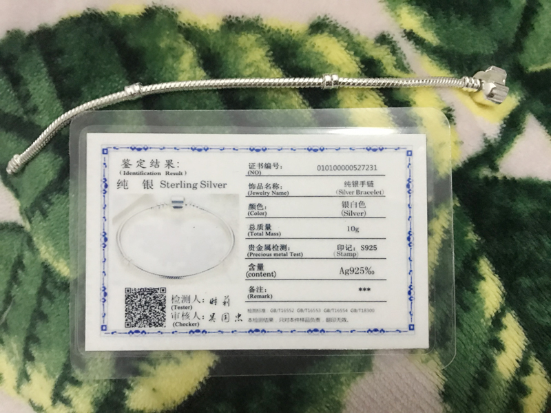 YANHUI With Certificate Women 100% Original 925 Solid Silver Snake Chain Bangle&Bracelet Fit Charms Beads DIY Gift Jewelry HS925