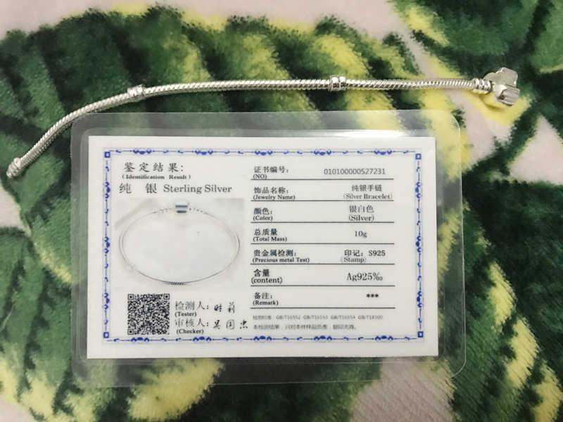 Yanhui Met Certificaat 100% 925 Sterling Zilver Snake Chain Bangle & Armband Voor Vrouwen Luxe Sieraden 16-23 Cm HB925