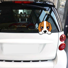 Car Sticker Lovely Beagle Puppy Dog Car Decoration Decals Vinyl Auto Motorcycle Sticker Car Body Decor Car Styling 11cmX11cm