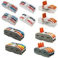 Conector compacto universal da fiação do conector de alimentação rápido mini do conector do fio  bloco de fio terminal obstrui o terminal do conector Conectores     -