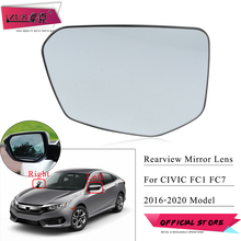 ZUK Side Mirror Lens For HONDA CIVIC 2016 2017 2018 2019 2020 FC1 FC7 10th Generation Rearview Door Mirror Glasses With Heated