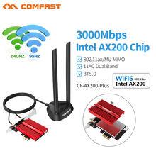 Двухдиапазонный беспроводной настольный адаптер pcie 3000 Мбит/с