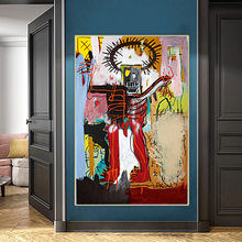 Holover Jean-lienzo de grafiti abstracto de Michel Basquiat