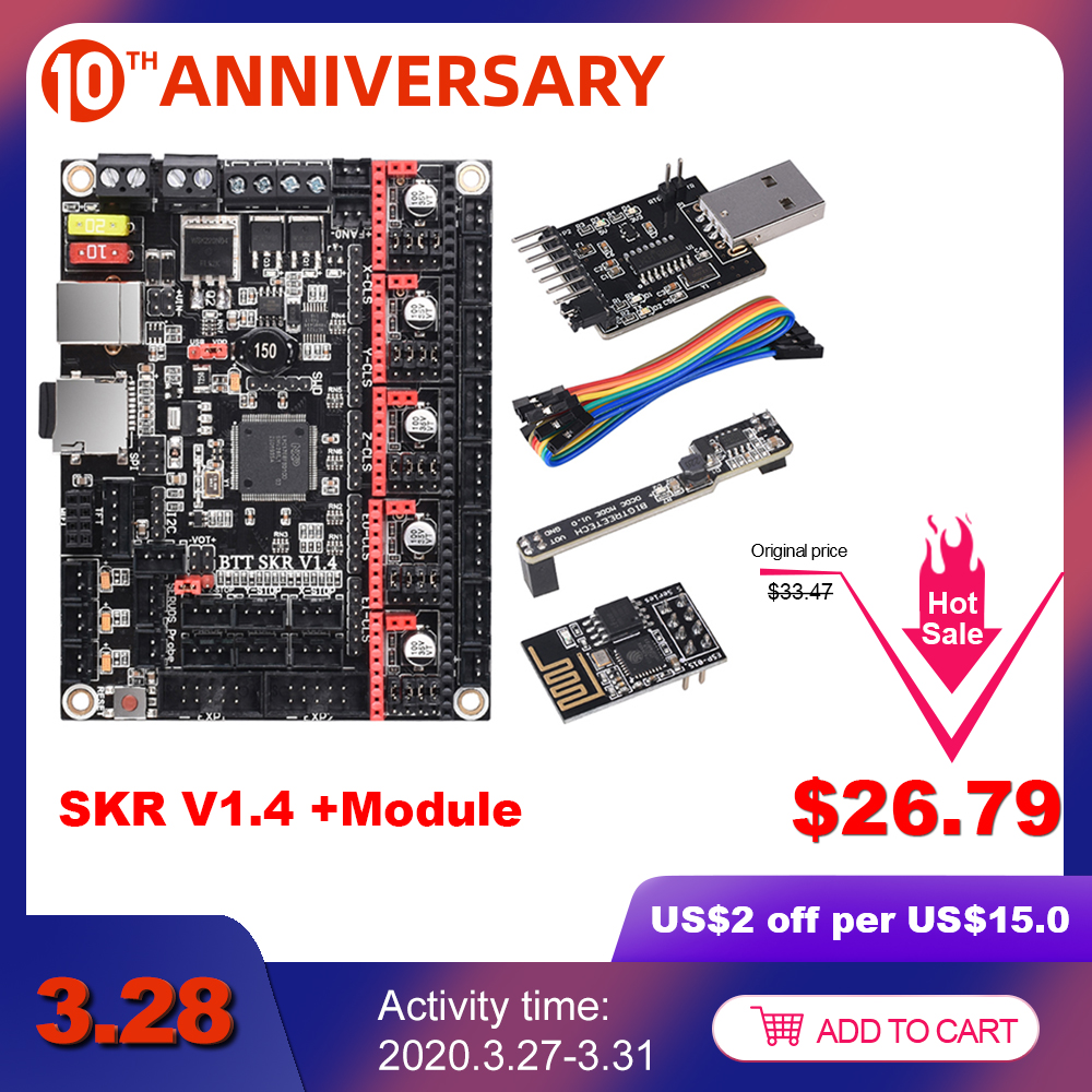 BIGTREETECH SKR V1.4 BTT SKR V1.4 Turbo Control Board 32 Bit WIFI Writer DCDC 3D Printer Parts SKR V1.3 TMC2130 TMC2209 TMC2208