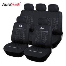 Autoyouth esportes tampas de assento do carro universal caber a maioria dos assentos do veículo marca protetor de assento de carro acessórios interiores preto