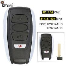 KEYECU 314.3MHz / 434MHz FSK HYQ14AHK HYQ14AHC 4 Button Prox Remote Key Fob for Subaru Crosstrek Forester Impreza Legacy Outback