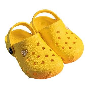 Summer Kids Croc Shoes for Boys Girls Solid Light Non Slip Children Garden Shoes Toddler Indoor Home Beach Slippers Sandals