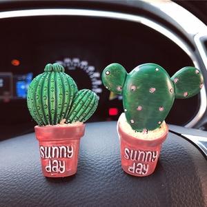 Image 5 - Succulents Cactus Car Dashboard Decoration Air Outlet Perfume Clip Ornaments Car Accessories Interior Hanging Pendant