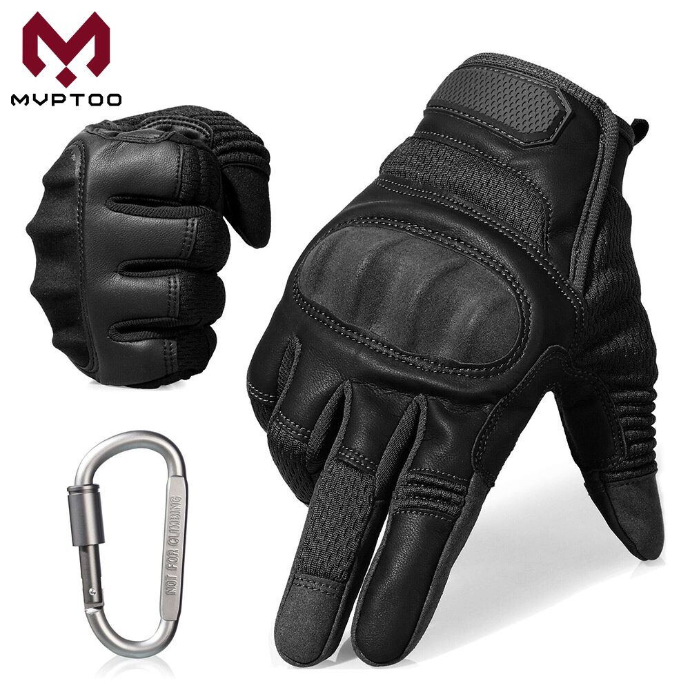 Touch Screen Motorcycle Gloves Moto Motorbike Motocross PU 