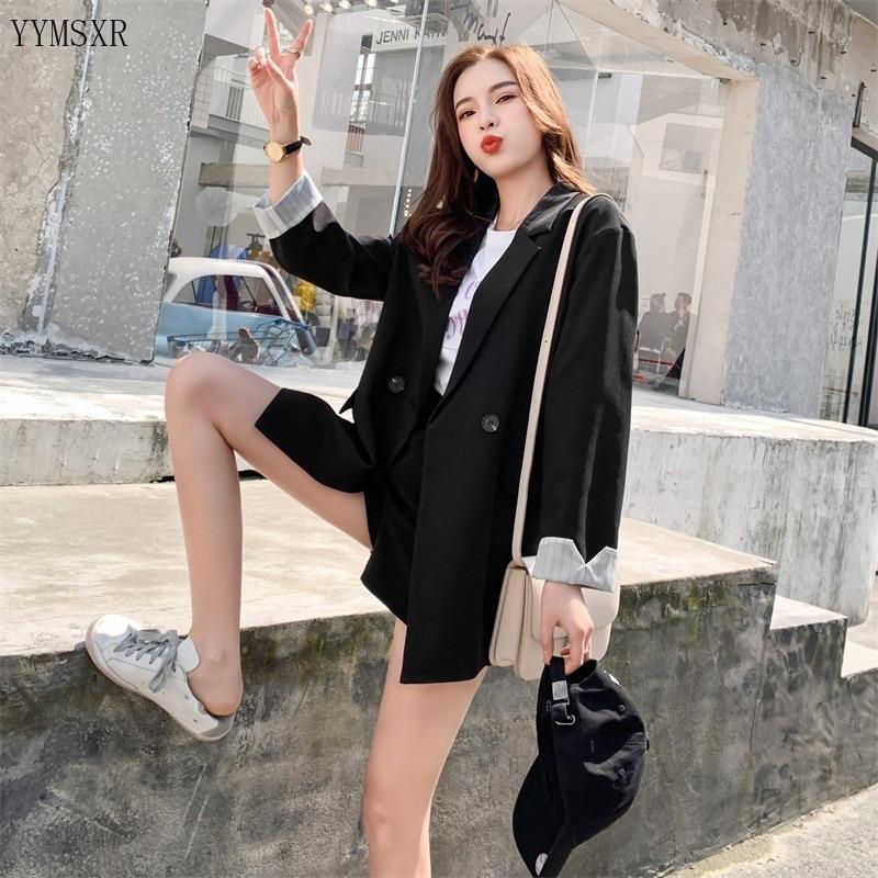 Women's mid-length blazer jacket feminine small suit 2020 spring and autumn new Korean version Female jacket Casual coat
