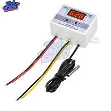W3001 W3002 W3230 LED cyfrowy AC 110V-220V DC12V 24VThermostat regulator temperatury termoregulator do kontroli grzania/chłodzenia