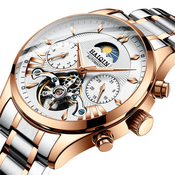 Surface Wrist Watch 8509 Hollow Out Waterproof Stainless Steel