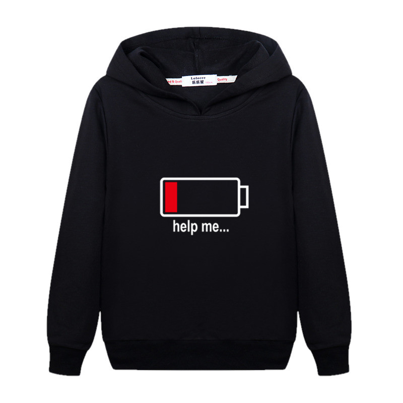 Electricity 100% Design Kids Pullover Long Sleeve Cotton Hoodie Boys Autumn Casual Sweatshirt Girls Energy Spring Clothes Child Jacket 5