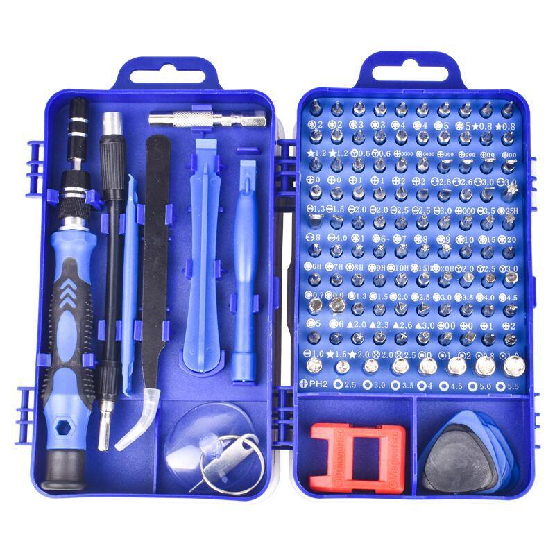 Набор отверток 60*90*55 мм, Набор прецизионных отверток 115 в 1, инструменты для ремонта с чехлом, чехол для ноутбуков, телефонов, часов 1| |   | АлиЭкспресс