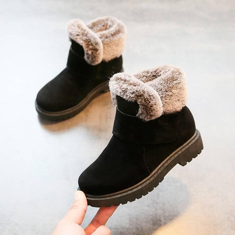 Children's Martin Boots 2019 Autumn Winter New Fashion Plus Velvet Warm Boys And Girls Snow Boot Non-slip Soft Bottom Kids Shoes