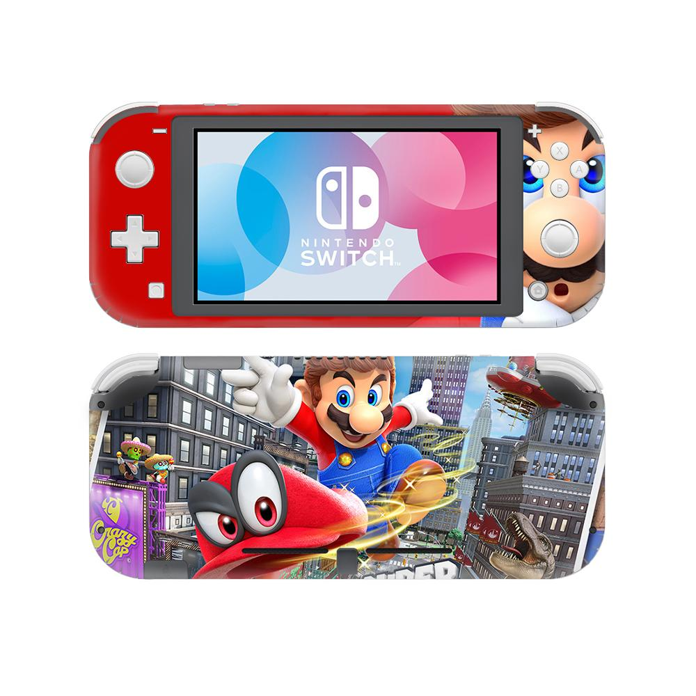 Us 4 49 10 Off Super Mario Odyssey Skin Sticker Decal For Nintendo Switch Lite Console Controller Protector Joy Con Switch Lite Skin Sticker In