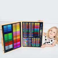 Kids Art Set Children Drawing Set Water Color Pen Crayon Oil Pastel Painting Drawing Tool Art supplies stationery set 251 Pcs