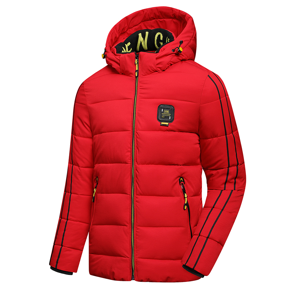 Luulla Men 2020 Winter New Casual Thick Warm Waterproof Hooded Jacket Parkas Coat Men Autumn Outwear Outfit Parkas Jackets Men 2