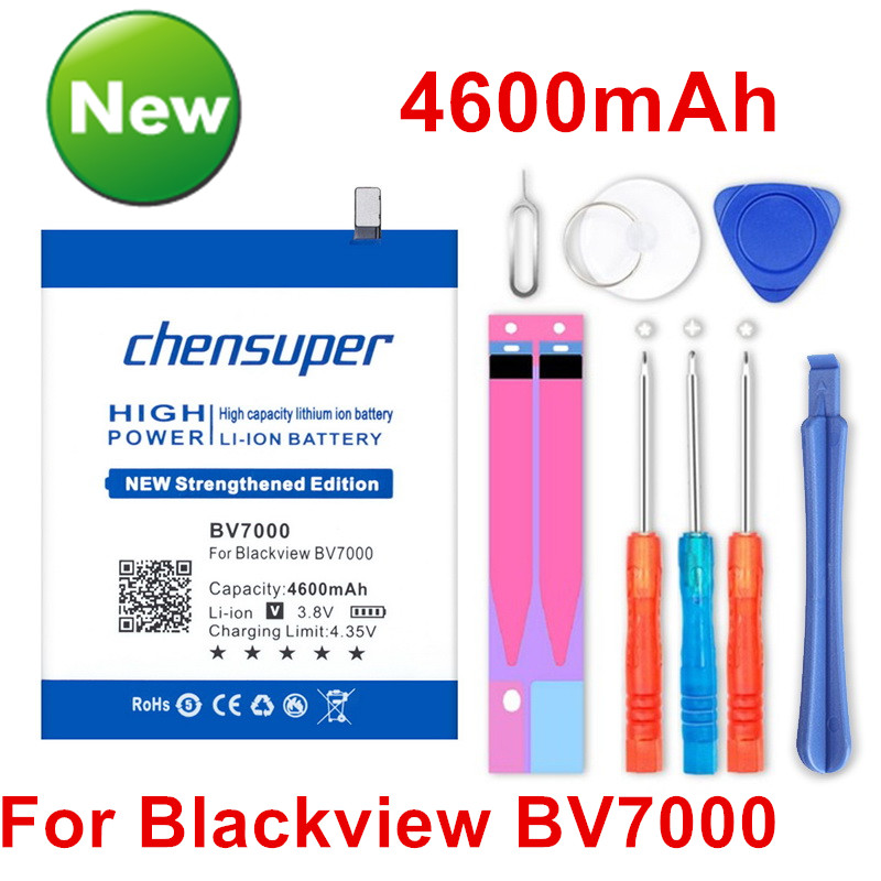 2pcs/chensuper Top Brand 100% New 4600mAh <font><b>Battery</b></font> for <font><b>Blackview</b></font> <font><b>BV7000</b></font> <font><b>BV7000</b></font> <font><b>Pro</b></font> within tracking image