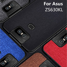For Asus Zenfone 6 ZS630KL Case Luxury Fabric Cloth Slim Anti-scratch Hard PC Shockproof 2019 6Z Coque